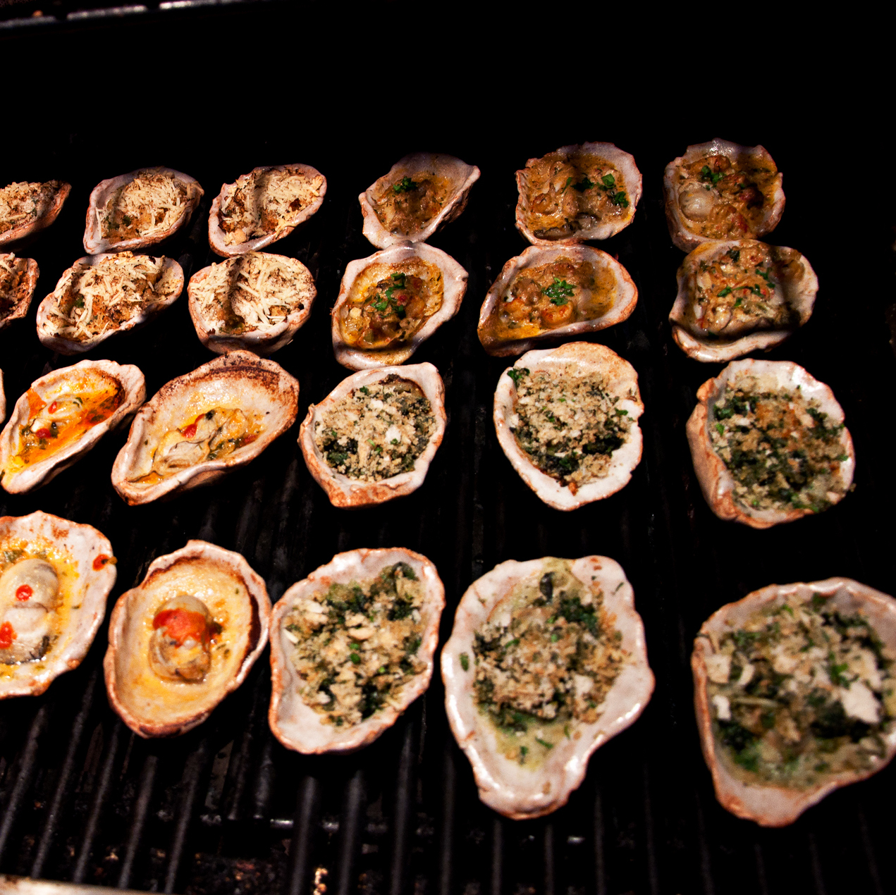 grill ceramic oyster